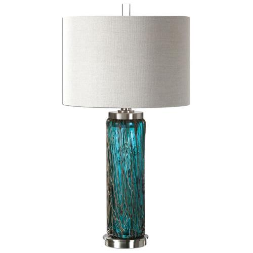 Uttermost 27087-1 Almanzora - 1 Light Table Lamp - 15.5 inches wide by 15.5 inches deep