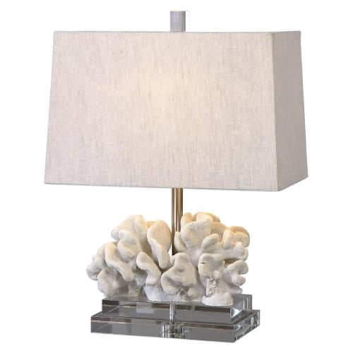 Uttermost 27176-1 Coral - 1 Light Table Lamp - 16 inches wide by 10 inches deep