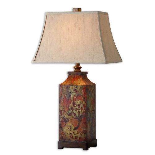 Uttermost 27678 Colorful Flowers - 1 Light Table Lamp