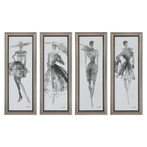 Uttermost 33624 Fashion Sketchbook - 39.75 inch Wall Art (Set of 4)