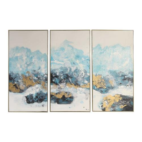 Uttermost 34370 Crashing Waves - 48 inch Abstract Art (Set of 3)