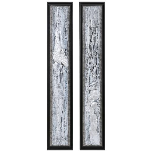 "Uttermost 35370 Silver Lining - 46"" Textured Abstract Art (Set of 2)"