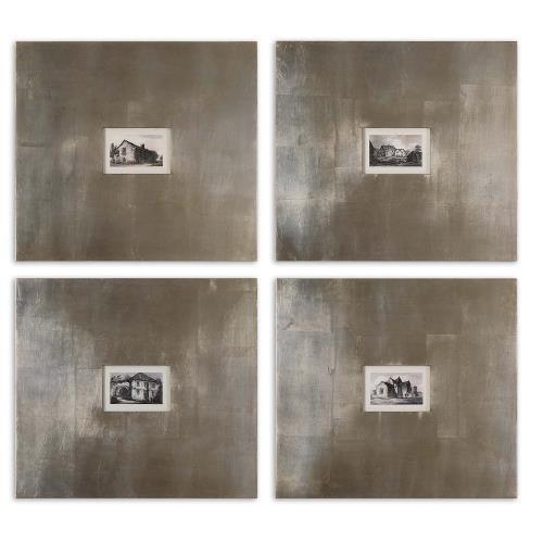 Uttermost 41295 Historical Buildings - 21.13 inch Framed Art (Set of 4)