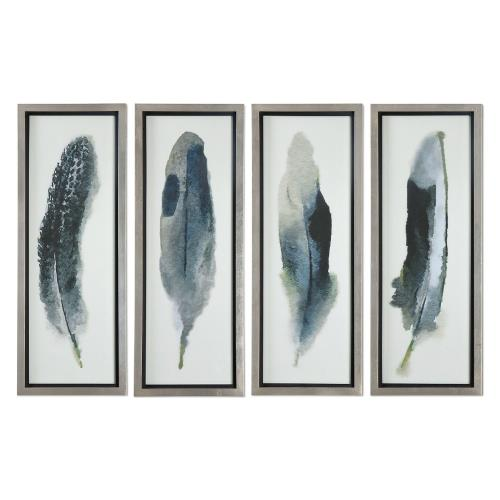"Uttermost 41554 Feathered Beauty - 38"" Decorative Wall Art (Set of 4)"