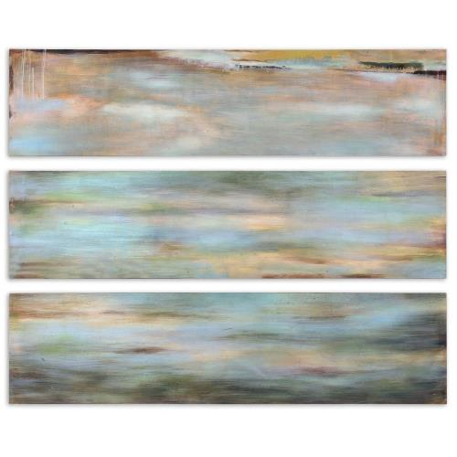 Uttermost 51012 Horizon View - 48 inch Hand Painted Panel (Set of 3)
