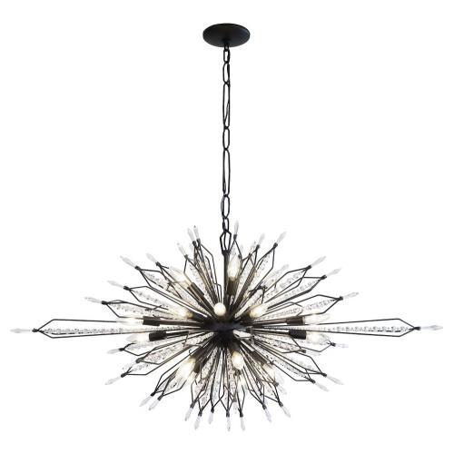 Varaluz Lighting 311N20CB Orbital - Twenty Light Oval Linear Pendant