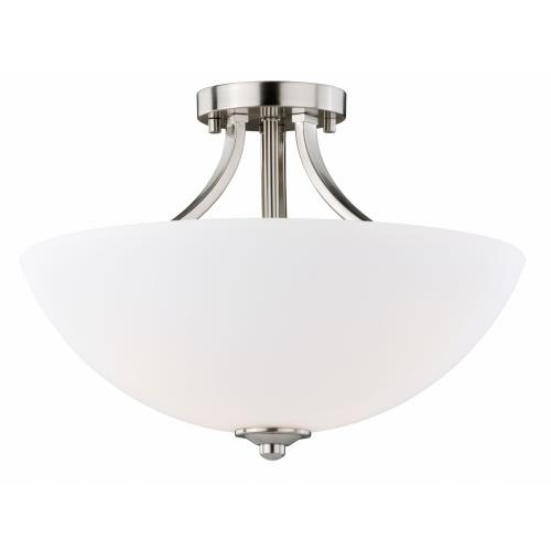 Vaxcel C0130 Mea - Three Light Convertible Semi-Flush Mount
