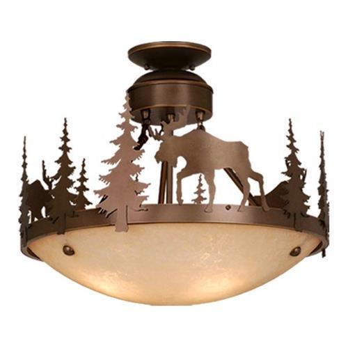 Vaxcel CF55618BBZ Yellowstone - Three Light Semi-Flush Mount