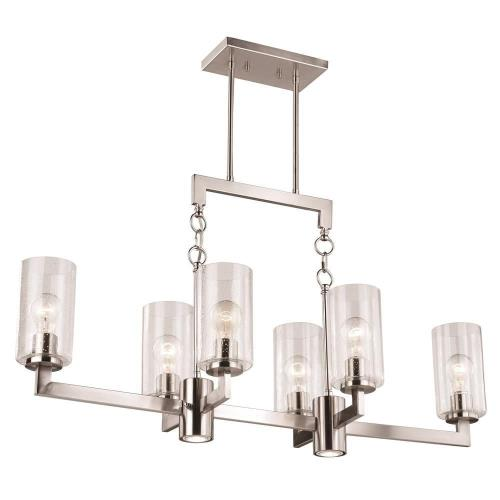 Vaxcel H0190 Addison - Eight Light Linear Chandelier