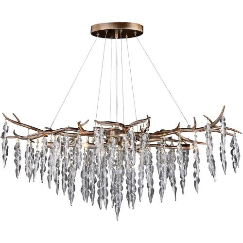 Vaxcel H0231 Rainier - Six Light Linear Chandelier