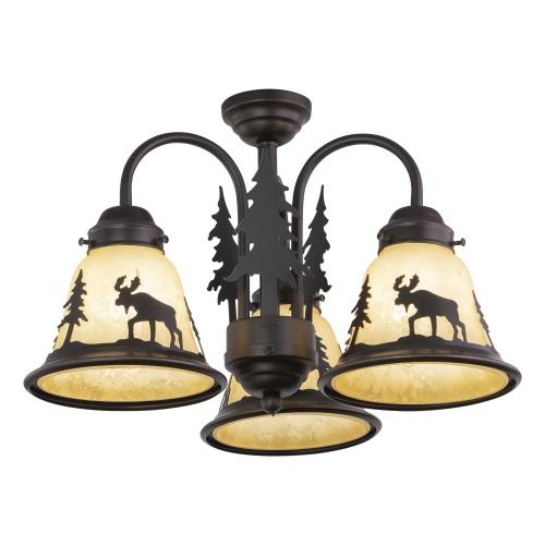 Vaxcel LK55616BBZ-C Yellowstone-Three Ceiling Fan Light Kit-16 Inches Wide by 12.5 Inches High