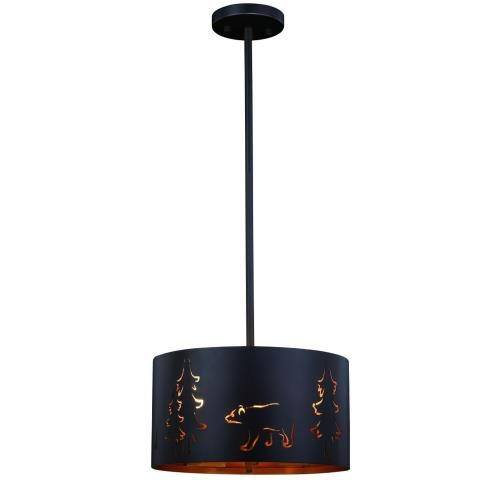 Vaxcel P0254 Katmai-Three Light Pendant-12 Inches Wide by 6.5 Inches High