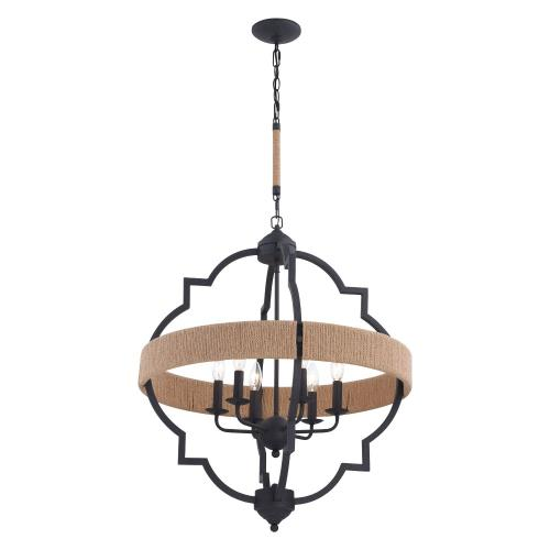 Vaxcel P0309 Beaumont-6 Light Pendant-25 Inches Wide by 30 Inches High
