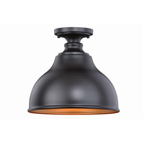 Vaxcel T0315 Delano - One Light Outdoor Semi-Flush Mount