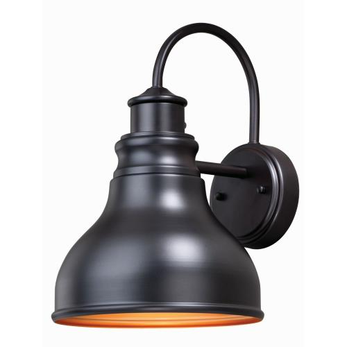 Vaxcel T0316 Delano-One Light Outdoor Wall Lantern-9 Inches Wide by 13 Inches High