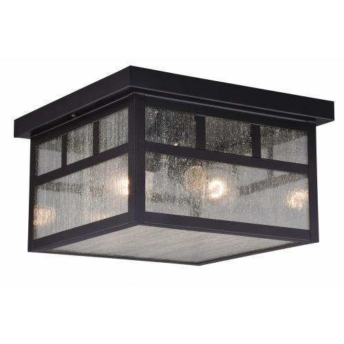 Vaxcel T0440 Mission - Two Light Outdoor Flush Mount