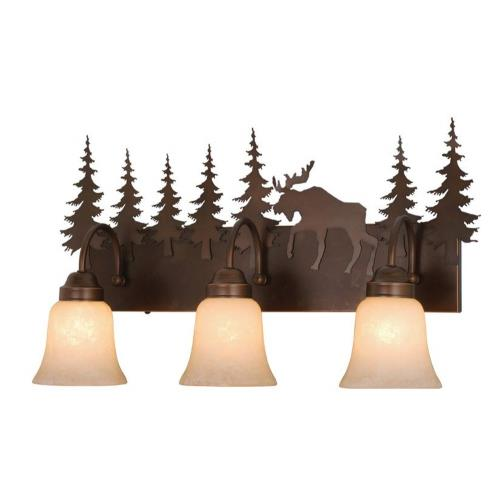 Vaxcel VL55603BBZ Yellowstone - Three Light Bath Bar