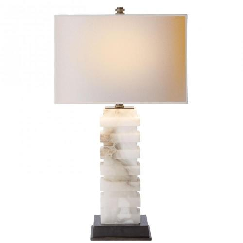 Visual Comfort CHA 8960ALB-NP Stacked - One Light Rectangular Table Lamp