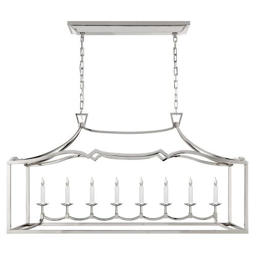Visual Comfort CHC 2183PN Fancy Darlana - 8 Light Large Linear Pendant