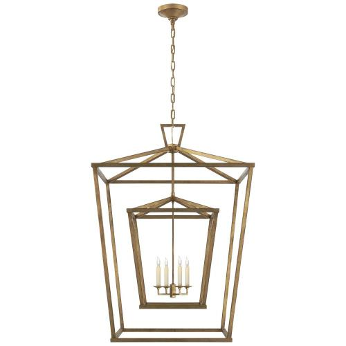Visual Comfort CHC 2199GI Darlana - 4 Light Extra Large Double Cage Hanging Lantern