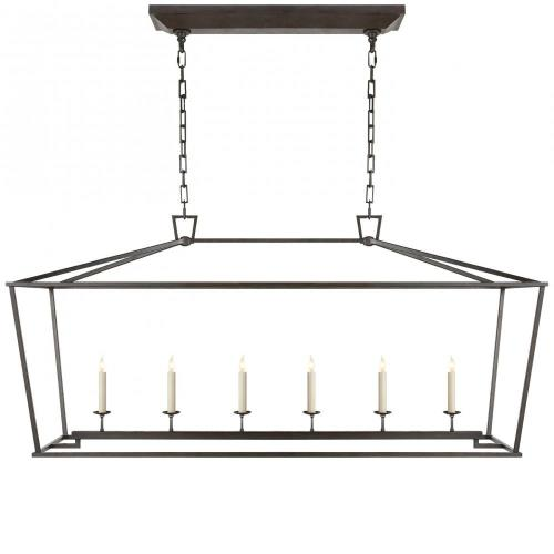 Visual Comfort CHC 2166 Darlana - 6 Light Outdoor Large Linear Hanging Lantern