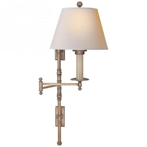 Visual Comfort CHD 5102 Dorchester - 1 Light Double Backplate Swing Arm Wall Sconce