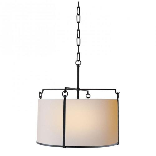 Visual Comfort S 5030BR-NP Aspen - 4 Light Large Shade Pendant