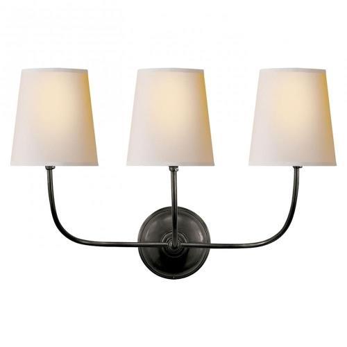 Visual Comfort TOB 2009 Vendome - 3 Light Wall Sconce