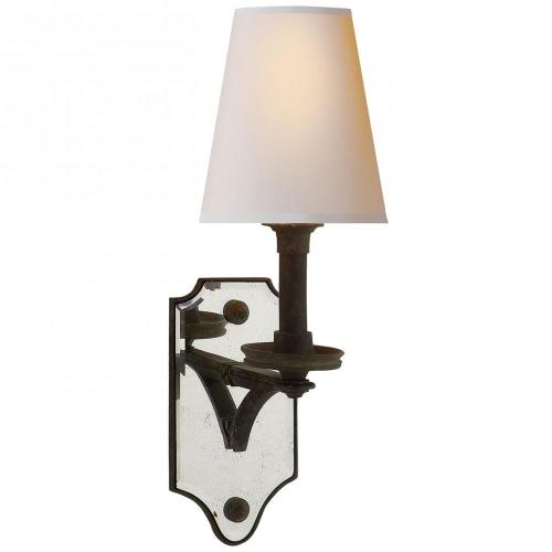 Visual Comfort TOB 2330 Verona - 1 Light Mirrored Wall Sconce