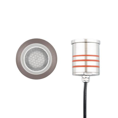 WAC Lighting 2012-30 12V 4W 1 LED Slim Round Indicator Light with Honeycomb Louver-2.07 Inches Wide by 3.13 Inches High