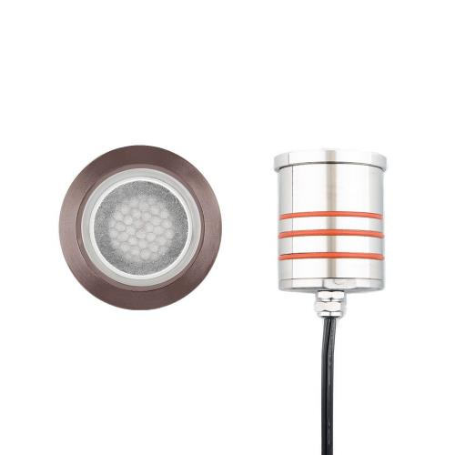 WAC Lighting 2022-30 3.13 Inch 12V 4W 1 LED Round Indicator Light with Honeycomb Louver