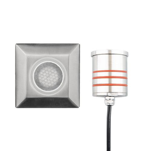 WAC Lighting 2052-30 2.75 Inch 12V 4W 1 LED Sqaure Indicator Light with Honeycomb Louver