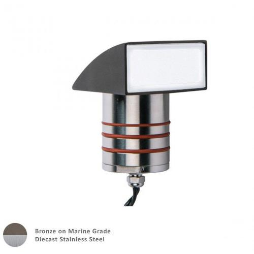 WAC Lighting 2081-30BS 12V 4.1W 3000K 1 LED Indicator Light with Ground Hood in Contemporary Style-2.38 Inches Wide by 4.13 Inches High