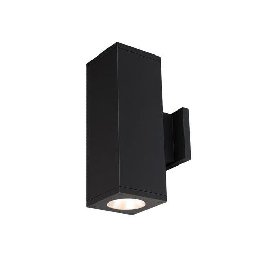 "WAC Lighting DC-WD05-F835B Cube Architectural - 7.19"" 53W 3500K 85CRI 33 degree 2 LED Outdoor Wall Mount with Towards the Wall Direction"