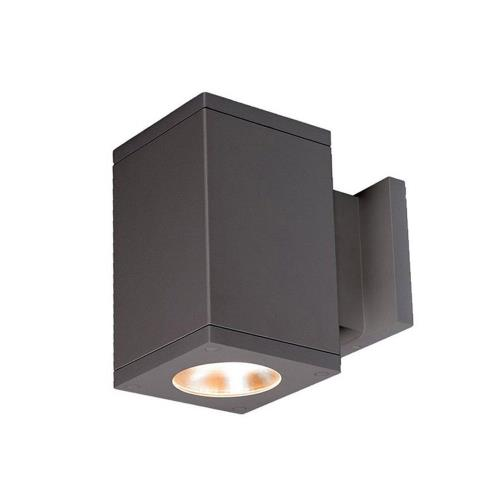 "WAC Lighting DC-WS05-F830A Cube Architectural - 7.13"" 27W 3000K 85CRI 33 degree 1 LED Outdoor Wall Mount with Away from the Wall Direction"