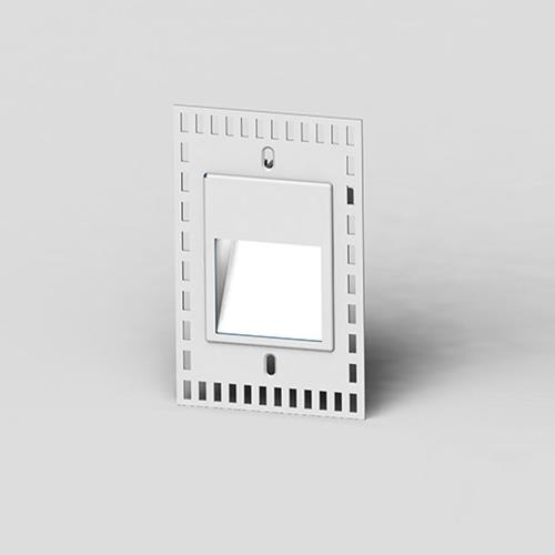 WAC Lighting WL-LED200TR-C-WT 5 Inch 3.3W Clear 1 LED Trimless Vertical Step Light