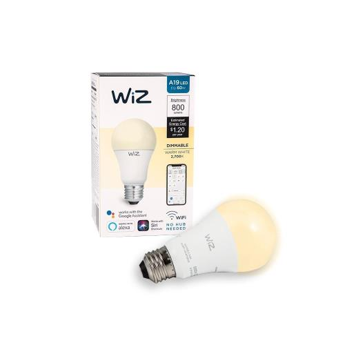 WiZ-Smart-Products IZ0026021 WiZ - 5.75 Inch 10W A19 LED Wi-Fi Connected Smart LED Light Bulb