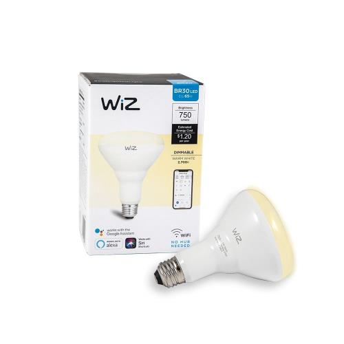 WiZ-Smart-Products IZ0087521 WiZ - 6.38 Inch 10W BR30 LED Wi-Fi Connected Smart LED Light Bulb