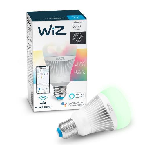 WiZ-Smart-Products IZ0126081 WiZ - 5.75 Inch 11.5W A19 LED Wi-Fi Connected Smart LED Light Bulb