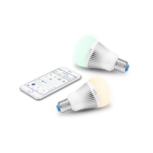 WiZ-Smart-Products IZ0126082 WiZ - 8.06 Inch 11.5W A19 LED Wi-Fi Connected Smart LED Light Bulb