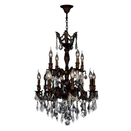 Worldwide Lighting 83346F24-GT Versailles - Twelve Light 2-Tier Large Chandelier
