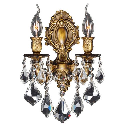 "Worldwide Lighting W23313 Versailles - 12"" Two Light Medium Candle Wall Sconce"