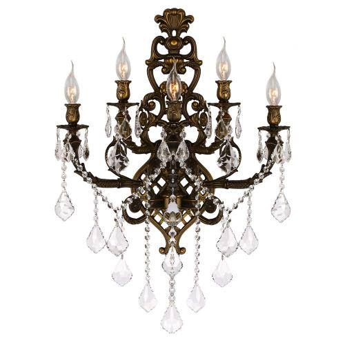 Worldwide Lighting W2331819 Versailles - Five Light 2-Tier Large Wall Sconce