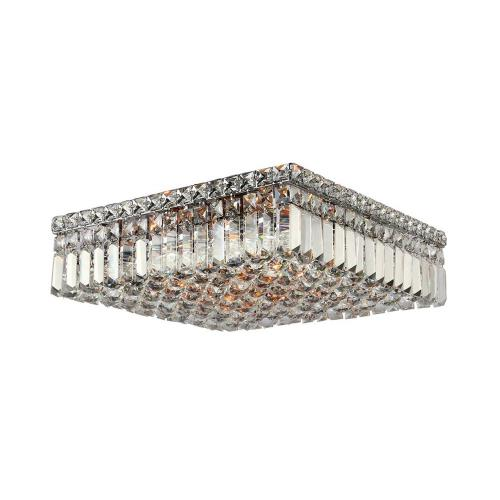 "Worldwide Lighting W33518C16 Cascade - 38"" Six Light Square Medium Flush Mount"