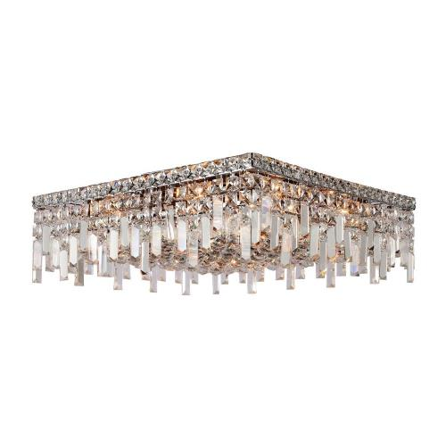 "Worldwide Lighting W33619C20 Cascade - 44"" Twelve Light Square Large Flush Mount"