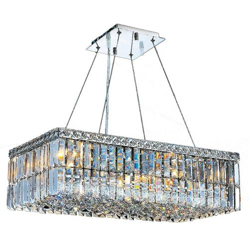 "Worldwide Lighting W83524C24 Cascade - 47"" Six Light Large Chandelier"