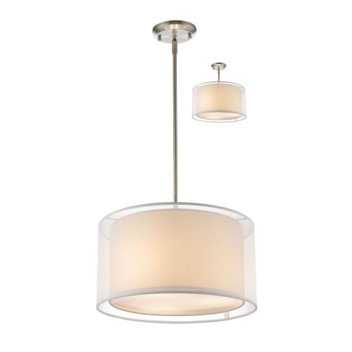 Z-Lite 192T Sedona - 3 Light Convertible Pendant in Metropolitan Style - 15 Inches Wide by 56.48 Inches High