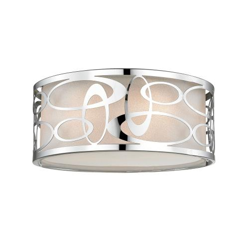 Z-Lite 195-14F Opal - 3 Light Flush Mount in Nature Style - 14 Inches Wide by 5.88 Inches High