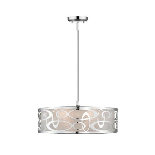 Z-Lite 195-20 Opal - 4 Light Pendant in Nature Style - 20 Inches Wide by 7.38 Inches High