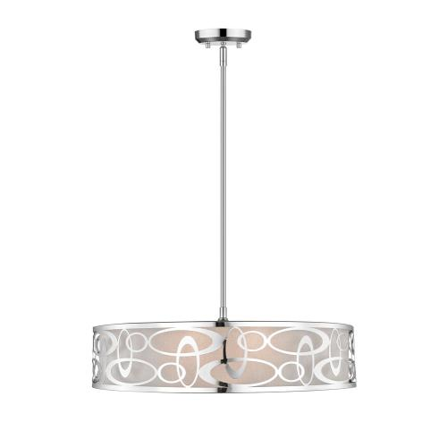 Z-Lite 195-26 Opal - 5 Light Pendant in Nature Style - 26 Inches Wide by 7.38 Inches High